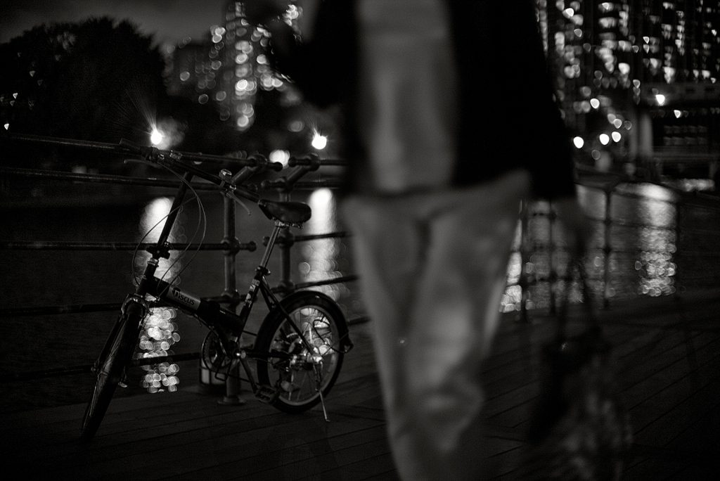 Bicycle at night